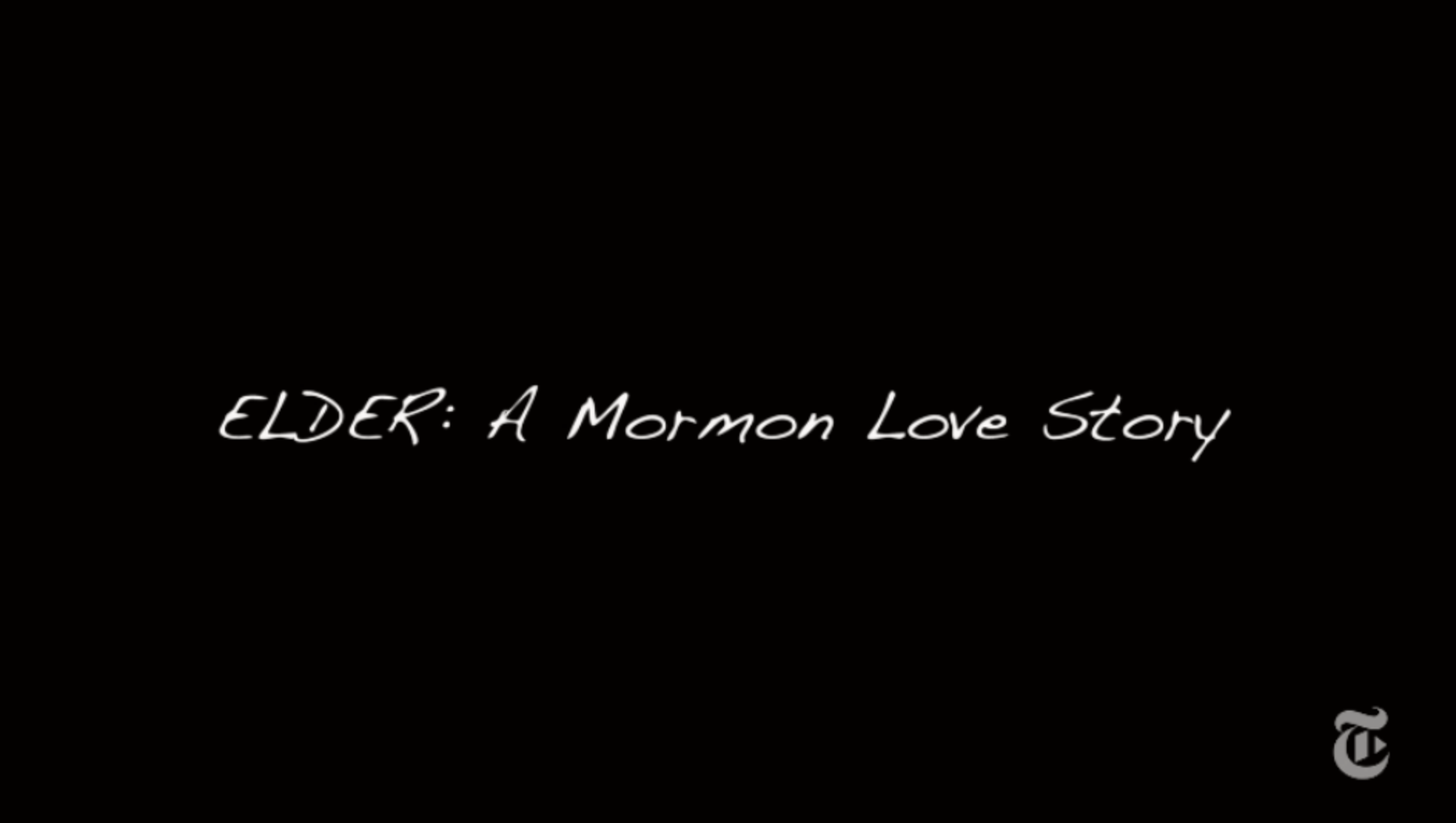 Short Film about a Gay Mormon Missionary