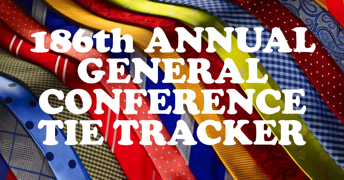 186th Annual General Conference Tie Tracker