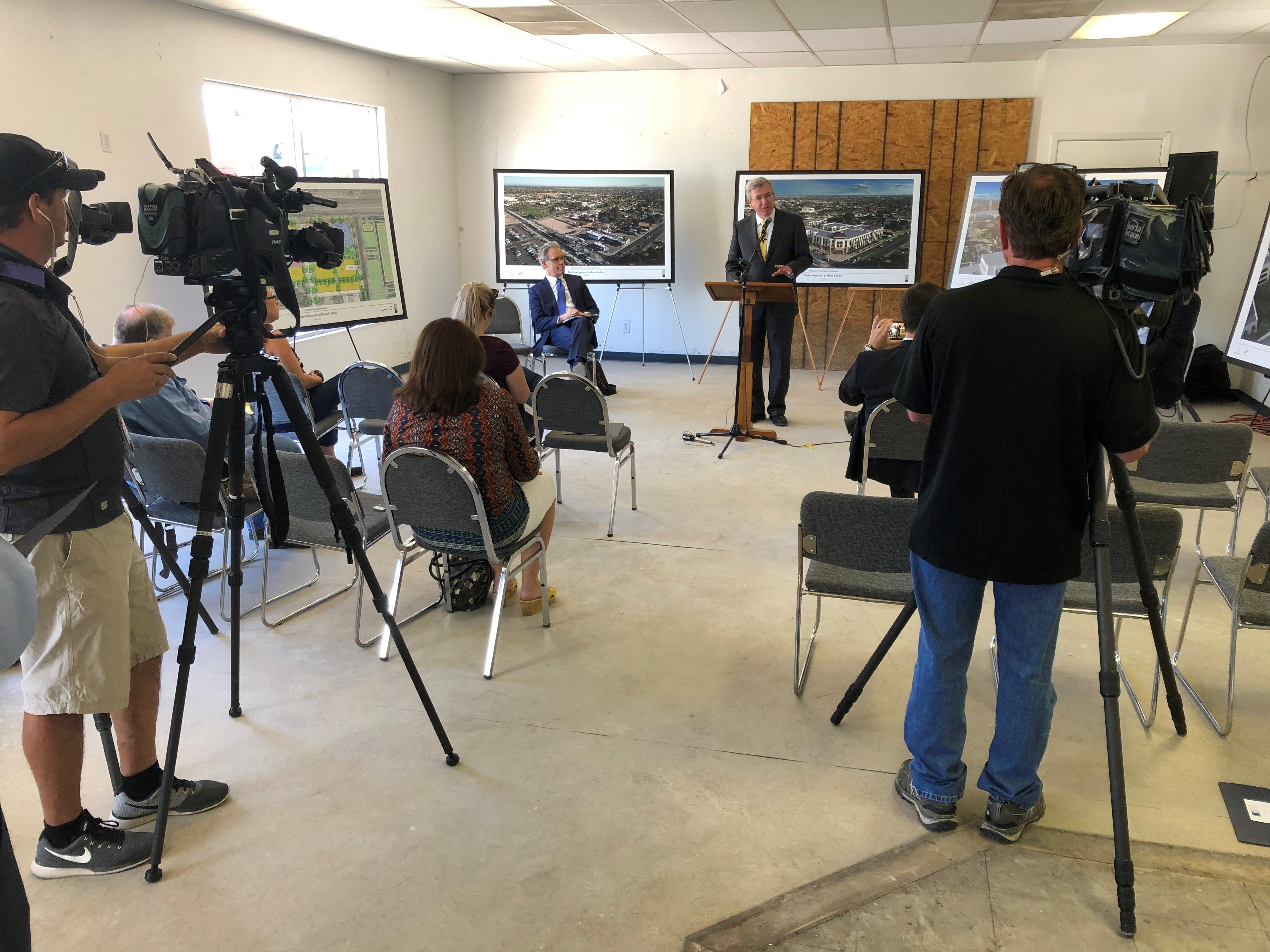 Mesa Temple Redevelopment News Conference