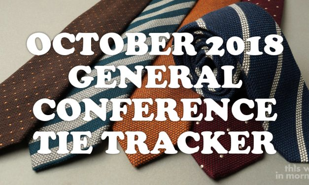 October 2018 General Conference Tie Tracker