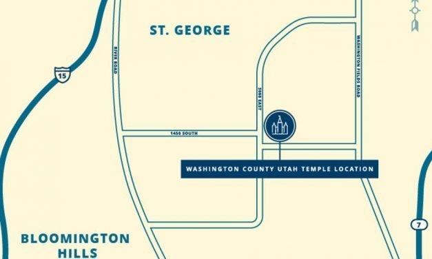 Location of Washington County Utah Temple Revealed