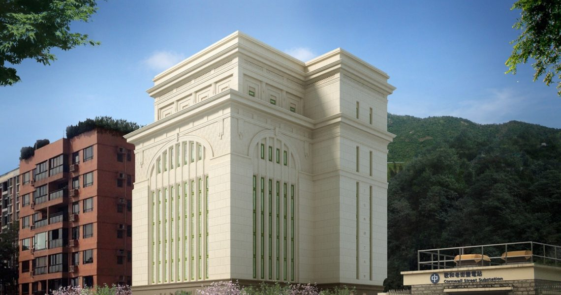 The new exterior of the Hong Kong China Temple will feature all-new stonework and an altered window pattern | Intellectual Reserve