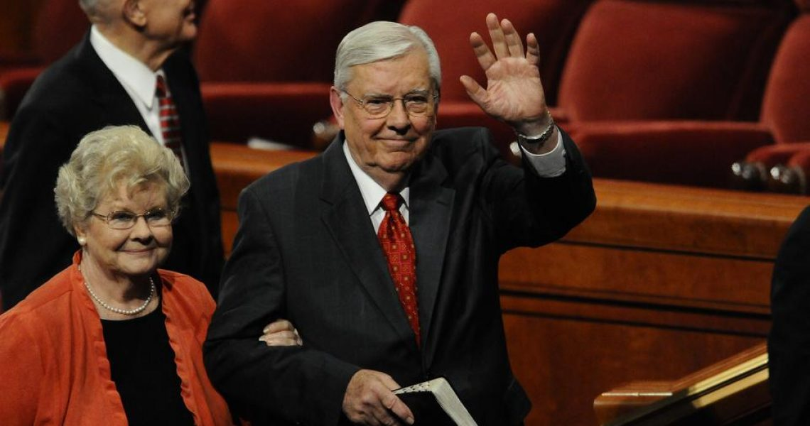 Then-Elder M. Russell Ballard leaves the October 2010 General Conference with his wife, Barbara | Photo: Intellectual Reserve