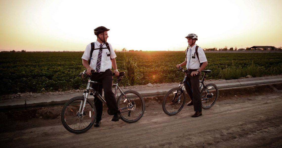 Mormon Missionaries on Bikes