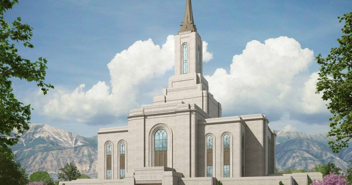 Rendering or the Orem Utah Temple | Intellectual Reserve