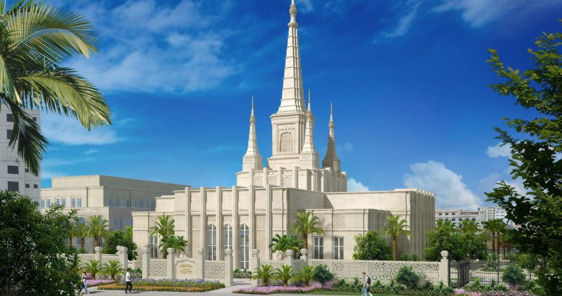 Rendering of the Phnom Penh Cambodia Temple | Intellectual Reserve