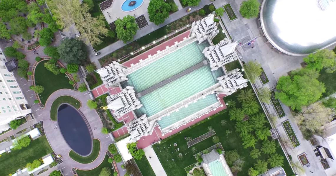 Salt Lake Temple Drone