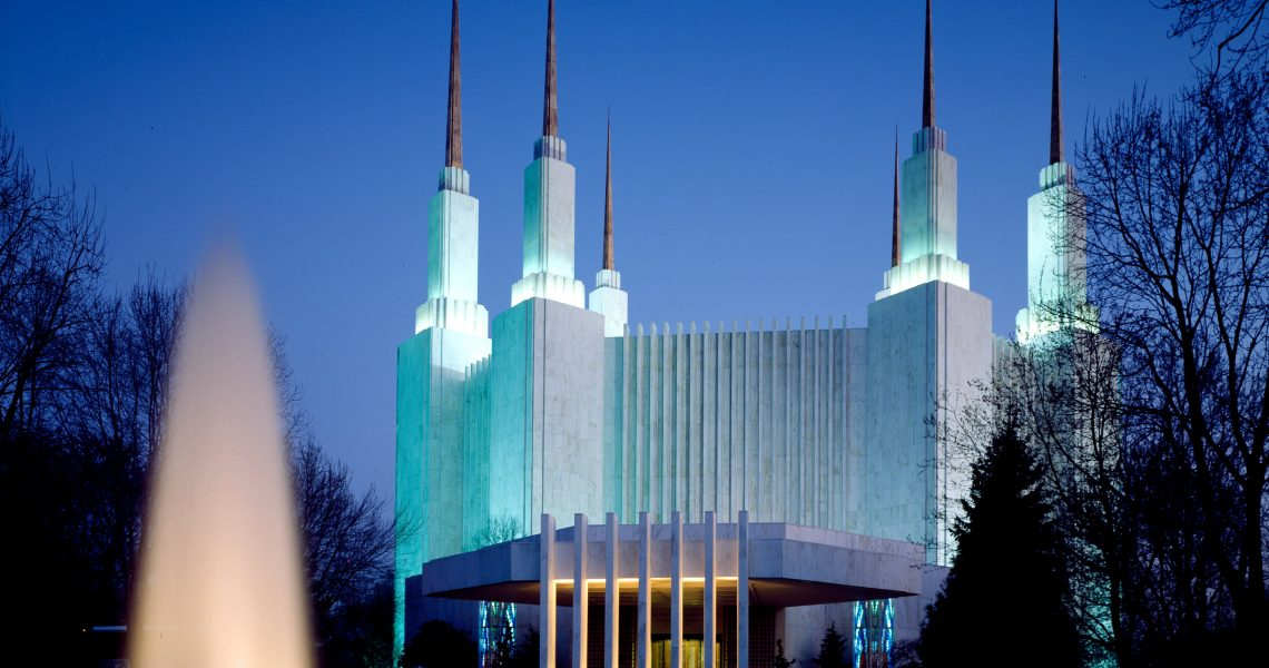 Washington DC Temple Night