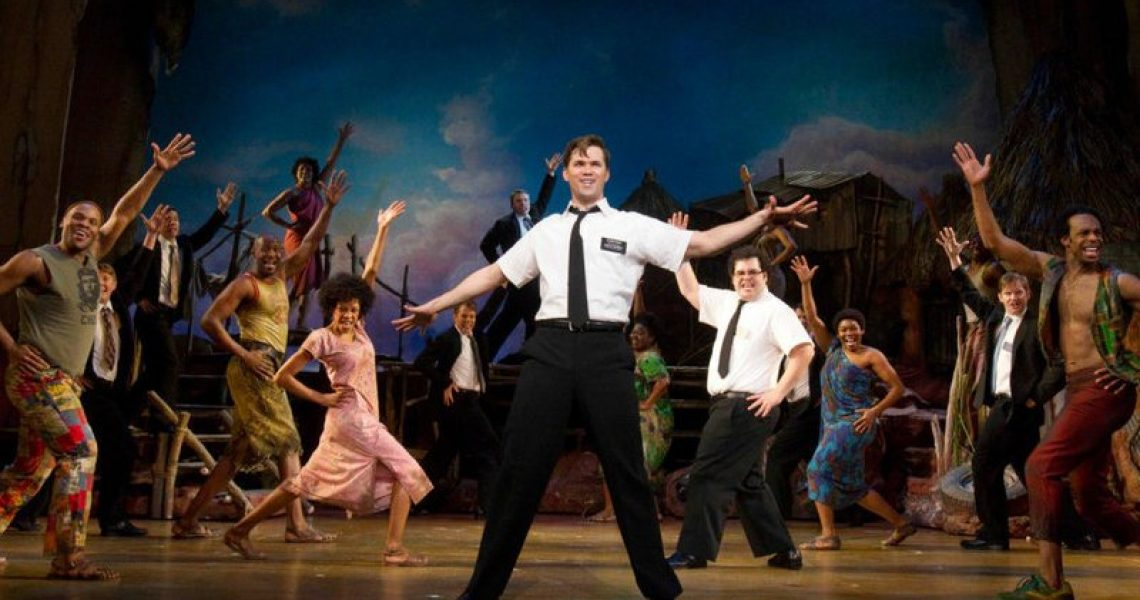 Image from the Broadway musical, The Book of Mormon | NPR/John Marcus