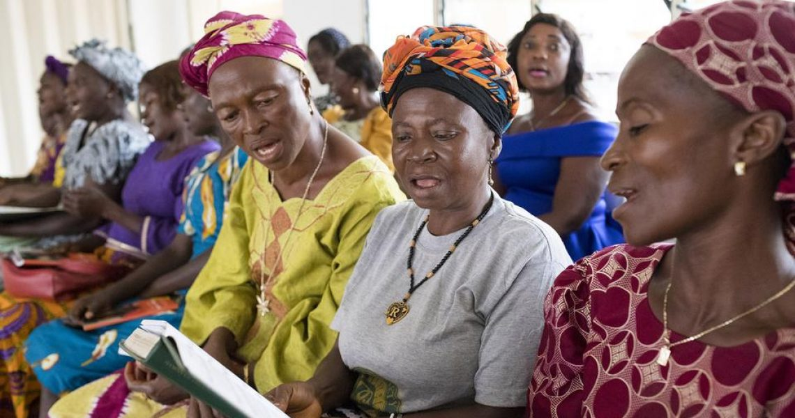 Latter-day Saint women from Sierra Leone sing during church services | Church Newsroom