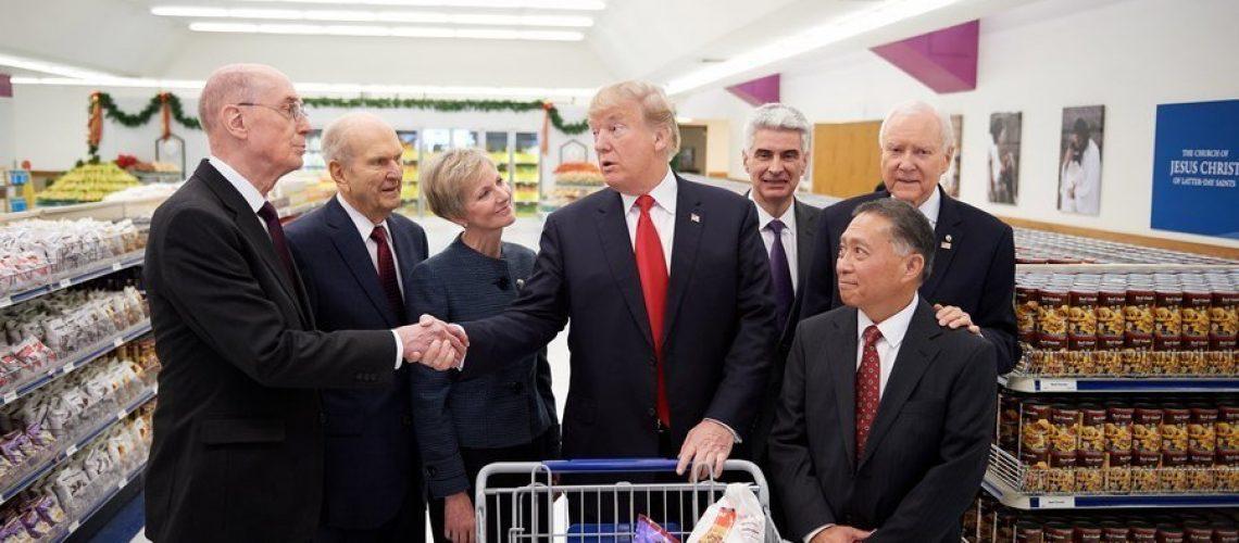 President Trump visiting Welfare Square in Salt Lake City   Intellectual Reserve