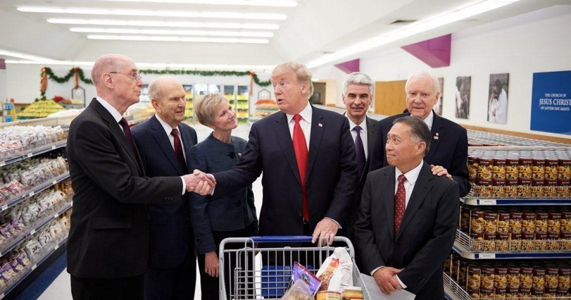 President Trump visiting Welfare Square in Salt Lake City | Intellectual Reserve