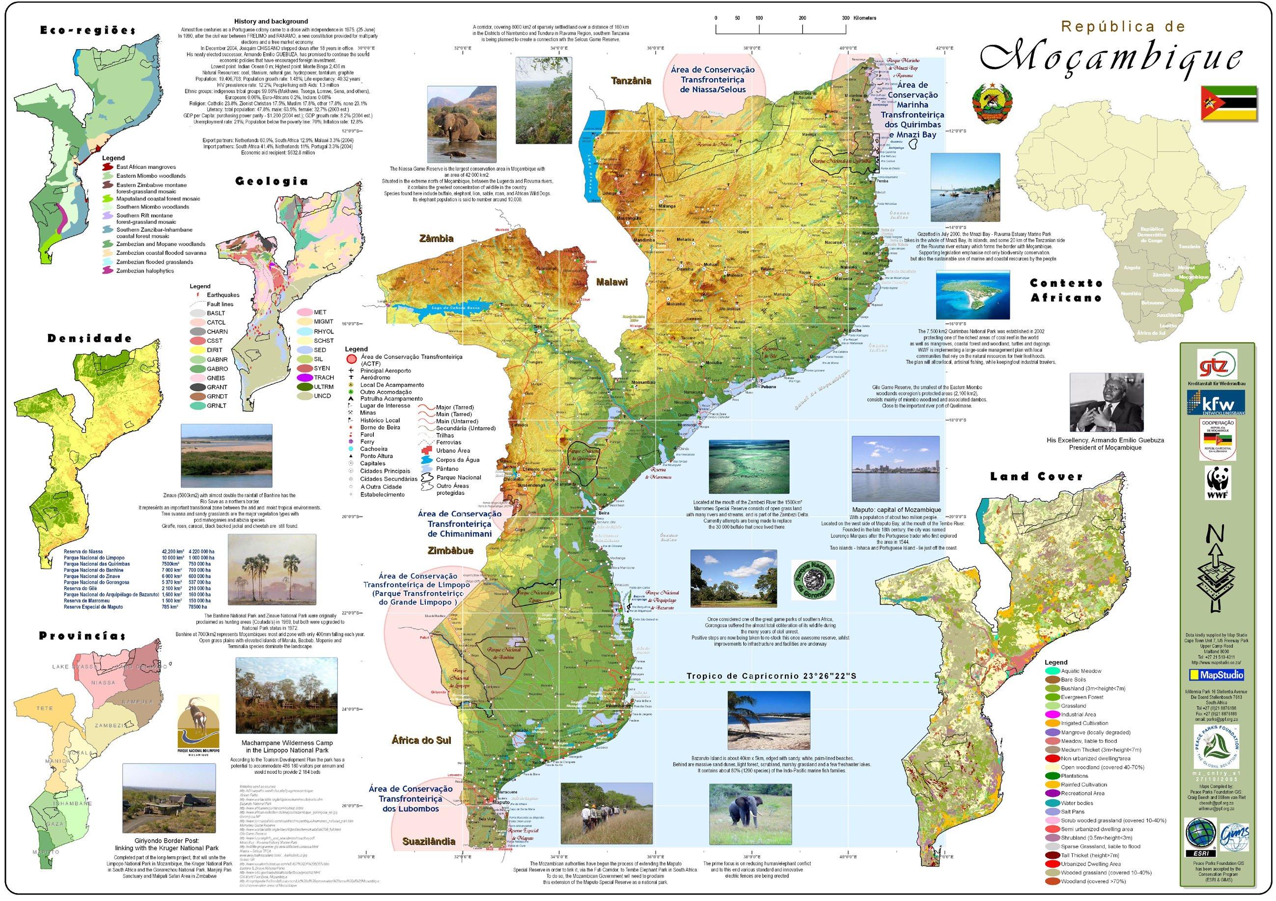 Mozambique-map