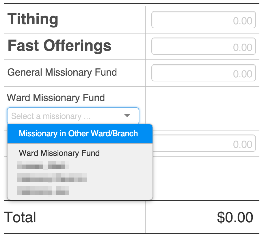 LDS Online Tithing 2