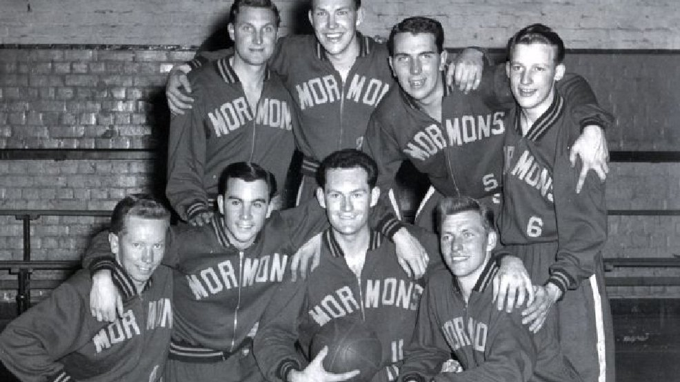 1954 Mormon Yankees team was a group of LDS Church missionaries in Australia. Not quite angry Church Ball, but you get the idea.