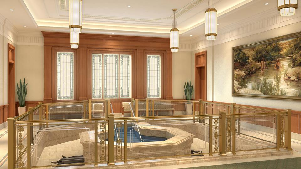 Pocatello Idaho Temple Baptistry, Artist's Rendering | Intellectual Reserve