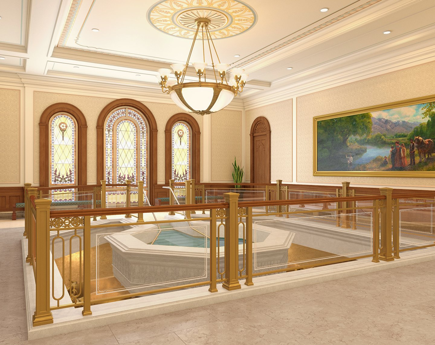 Baptistry of the Tooele Valley Utah Temple | Intellectual Reserve