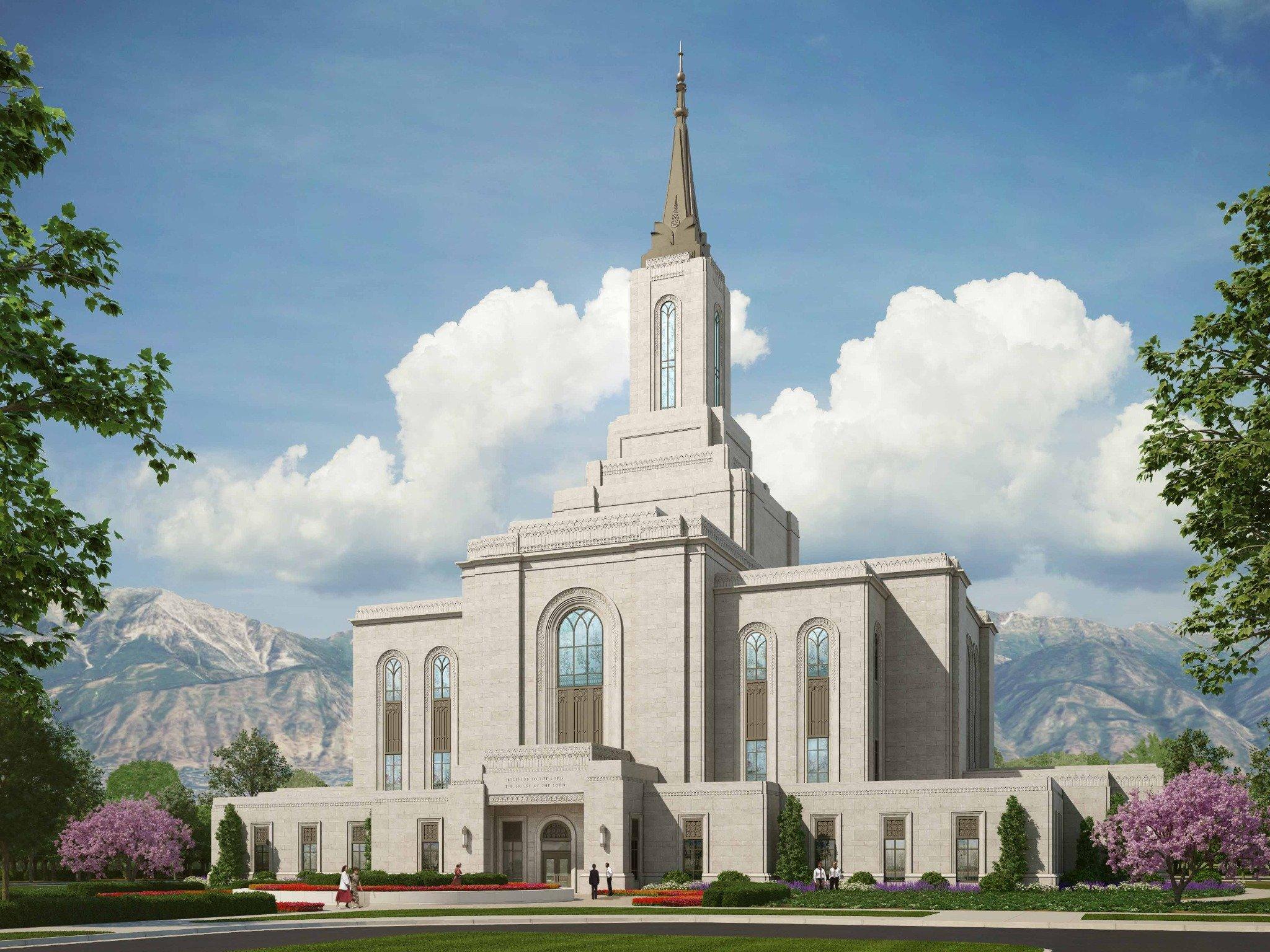 Rendering or the Orem Utah Temple | Intellectual Reserve