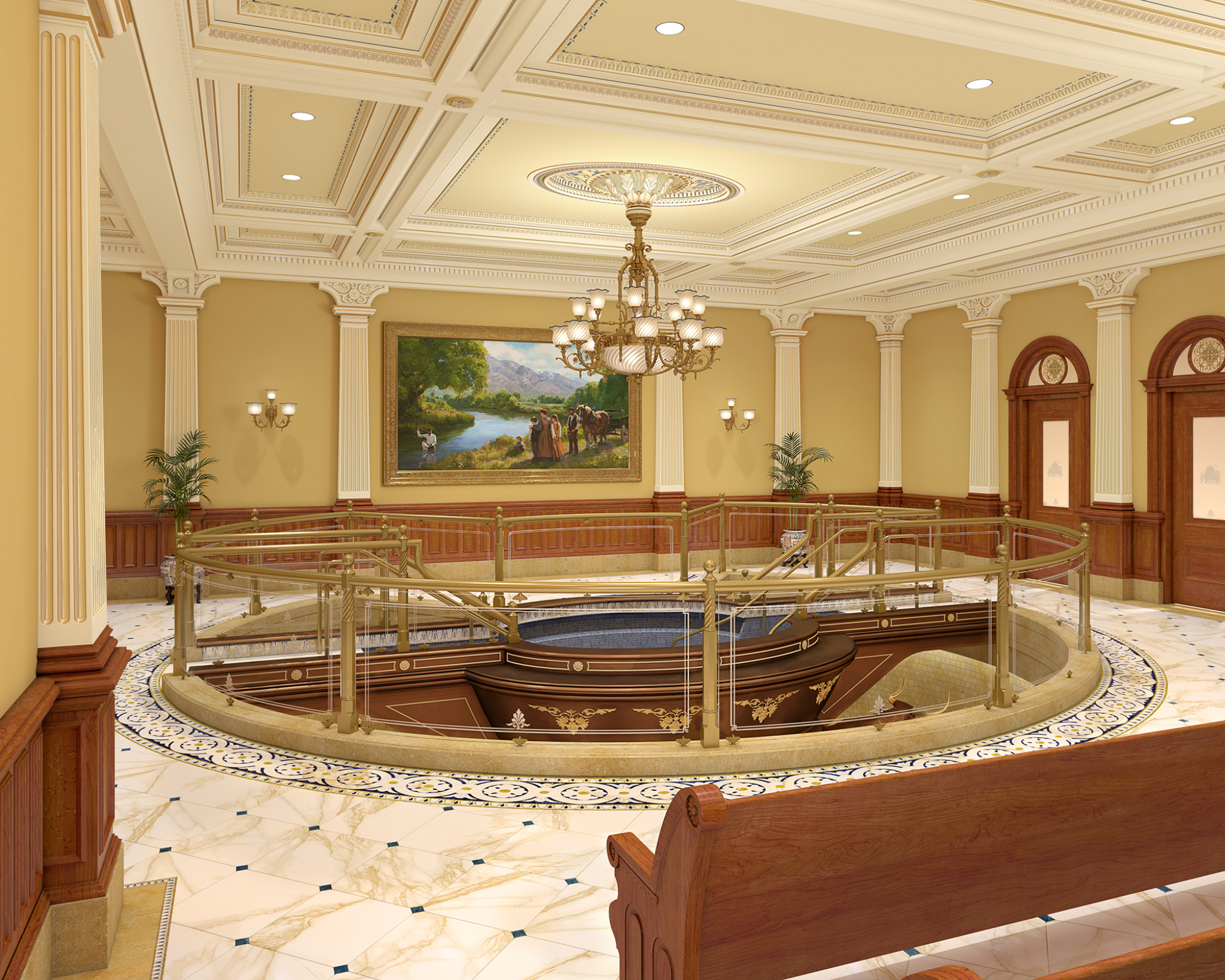 One of the New Salt Lake Temple Baptistries  | Intellectual Reserve